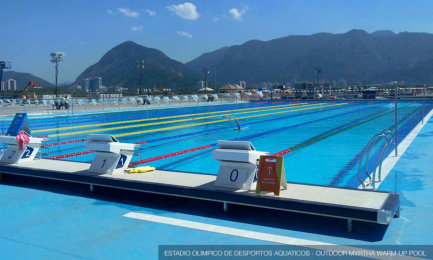 Trainingsbecken Olympic Aquatics Stadium, Rio Olympic Park